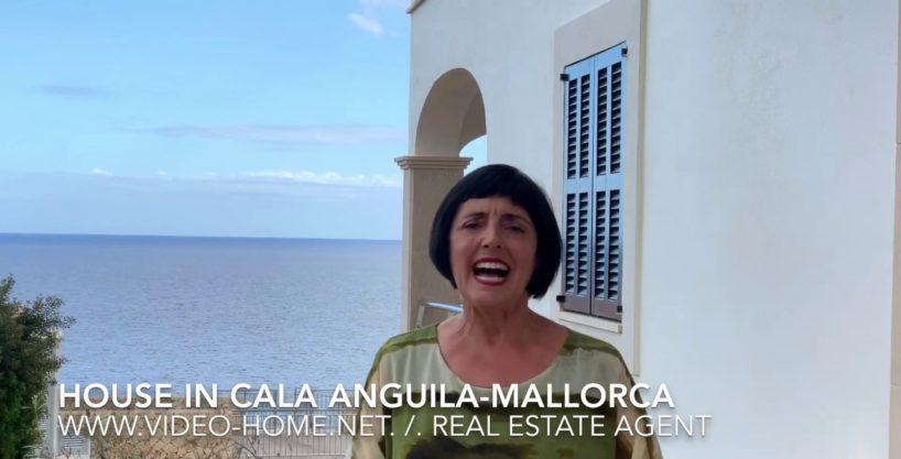Preciosa casa frente el mar en Cala Anguila con piscina. Ver video-documental