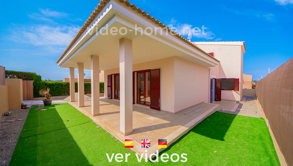 Chalet en Cala Mandía seminuevo a 4 min del mar con jardin . Ver video-documental