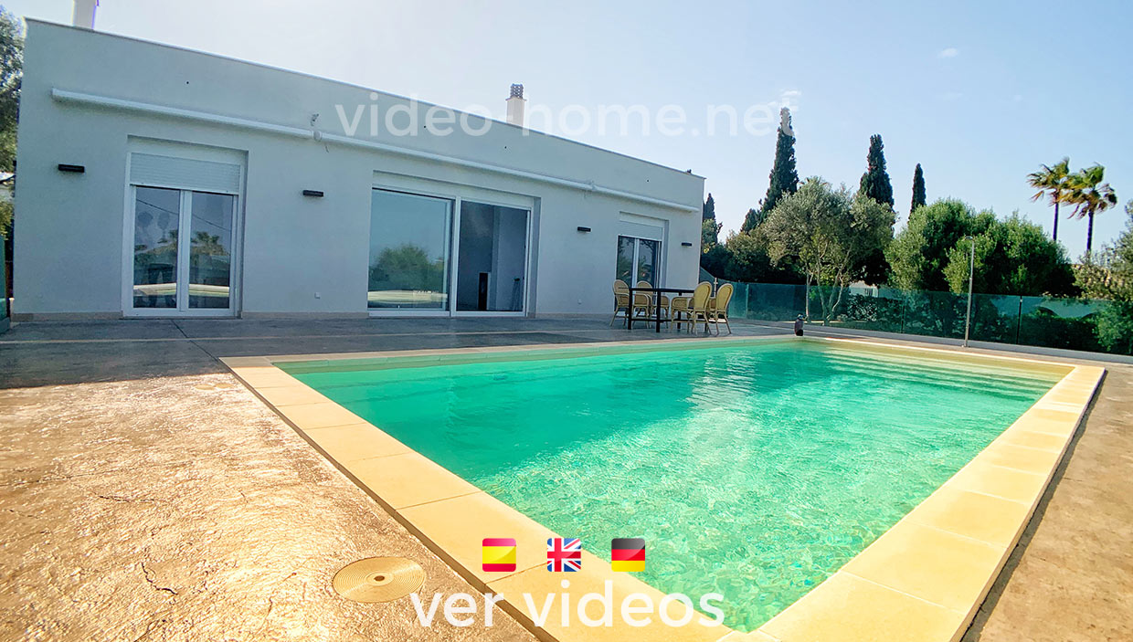 Wonderful new modern villa 4 min from the sea with views and private pool. See videos