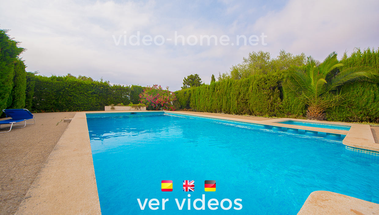 Chalet  con vistas al mar en Colonia Sant Pere y piscina comunitaria. Ver video-documental