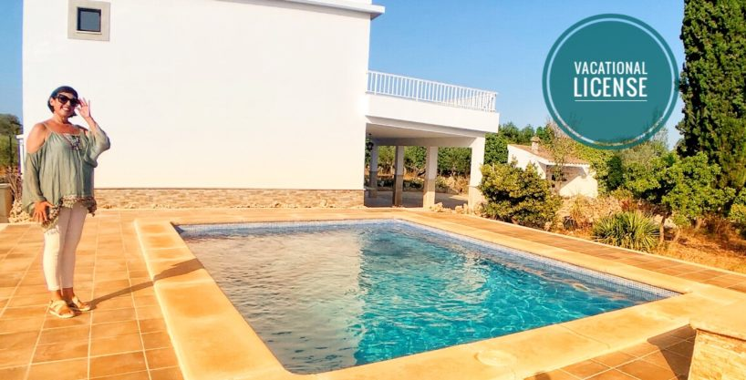 Villa with newly renovated house and pool in Llubí.