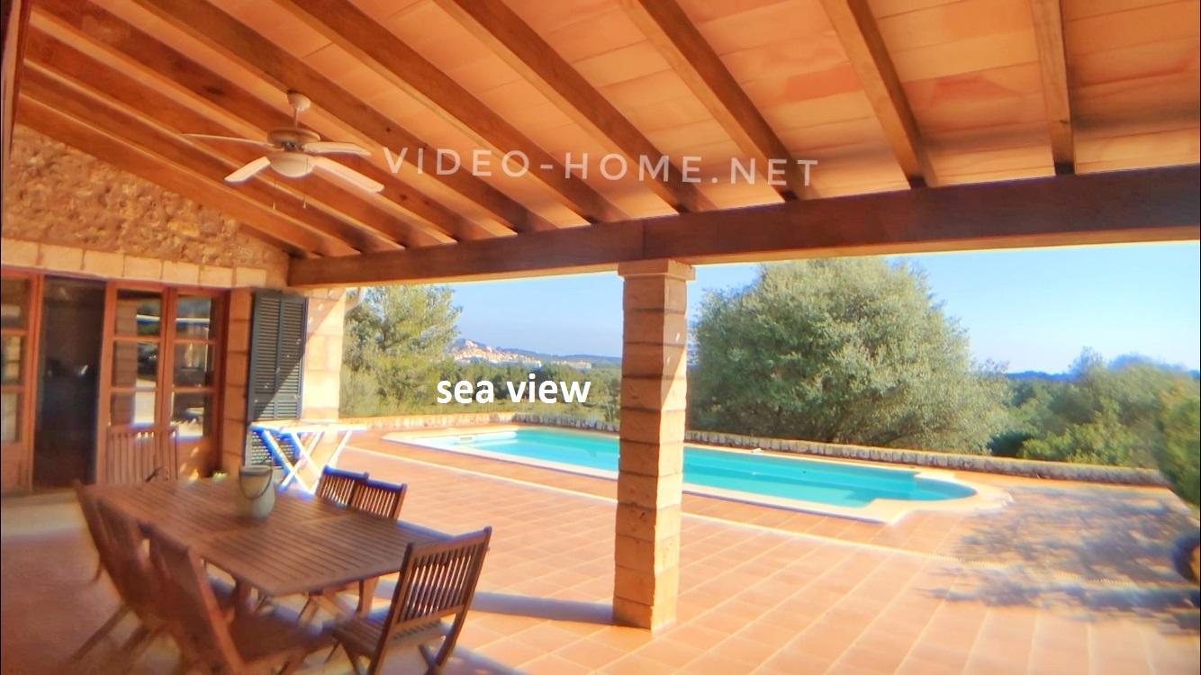 Casa con vistas espectaculares en playa Cala Agulla/Mallorca